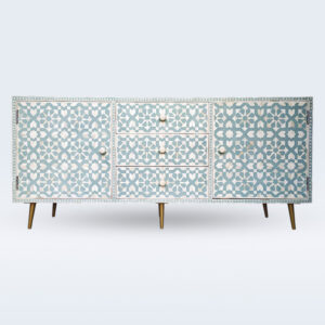 Bone inlay sideboard cabinet