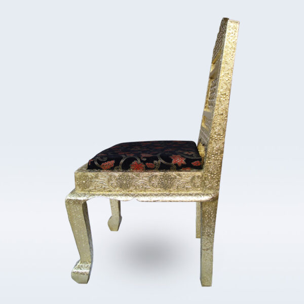 brass dining chair