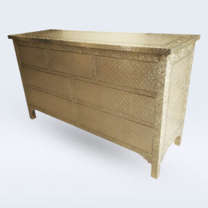 Embossed Brass Drawer