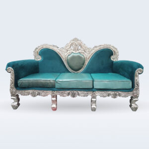 German silver sofa
