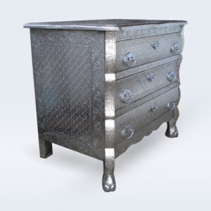 White metal drawer