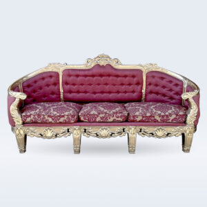 white metal sofa set