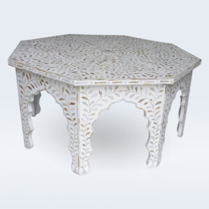 mother of pearl inlay coffee table