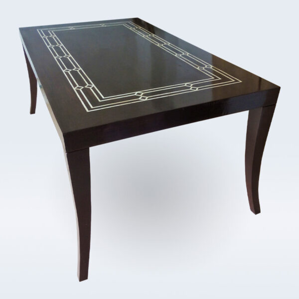 Bone inlay wooden dining table
