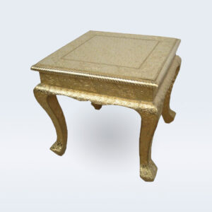 Brass embossed side table