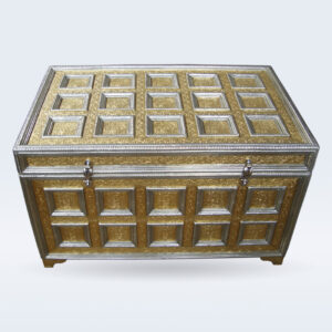 Brass embossed trunk box