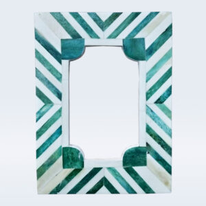 Dyed green bone inlay photo frame