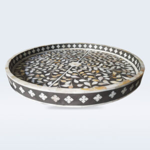 Mop inlay round tray