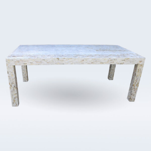 Mother of pearl inlay dining table