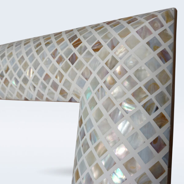 Mother of pearl inlay mirror frame