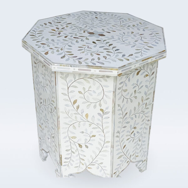 Mother of pearl inlay stool