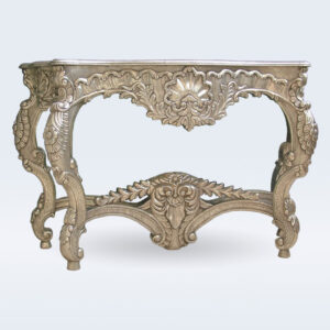 Silver Carved Console Table