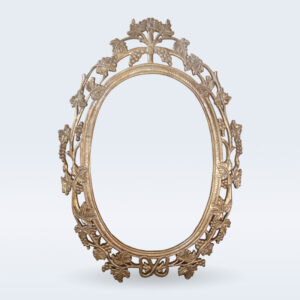 Silver carved mirror frame