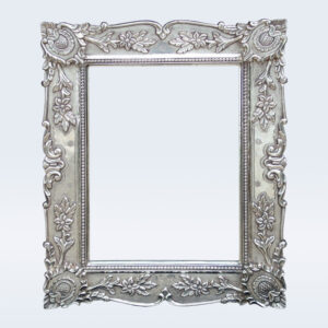Silver carved photo frame
