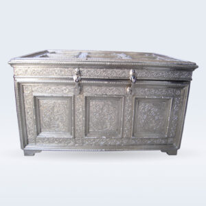 White metal embossed trunk box