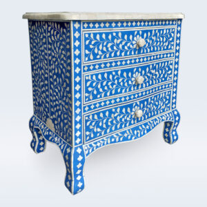 bone inlay drawer bedside