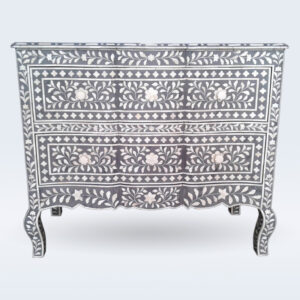 bone inlay grey drawer