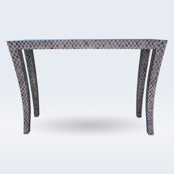 Dyed bone inlay console table