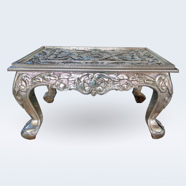 german silver carved center table