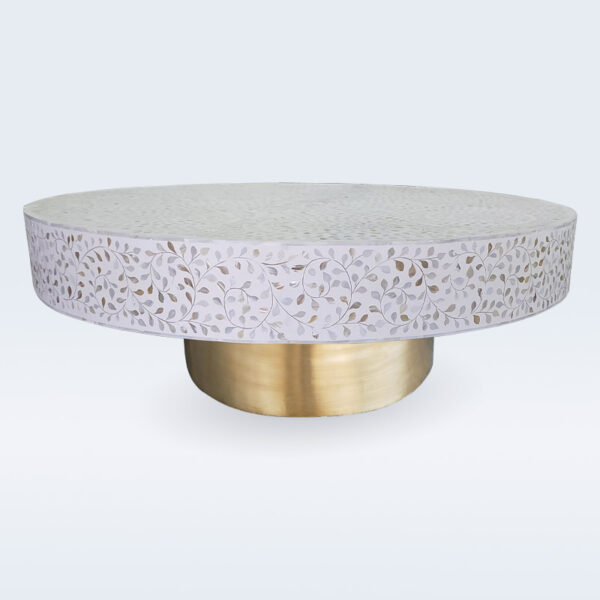 mop inlay floral coffee table