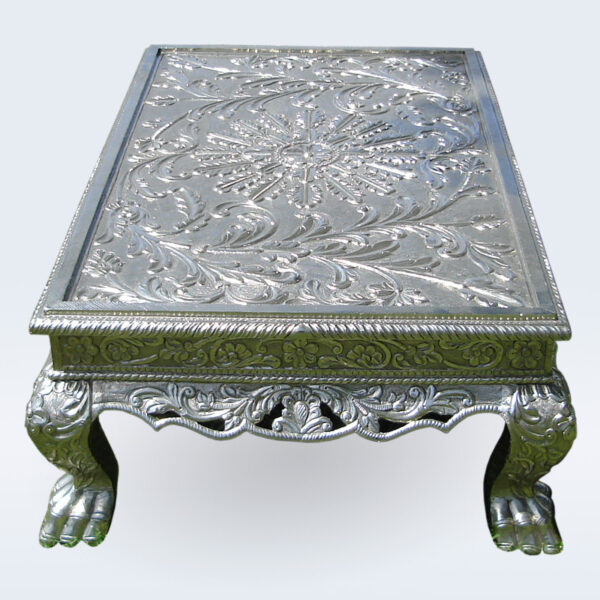 silver carved coffee table