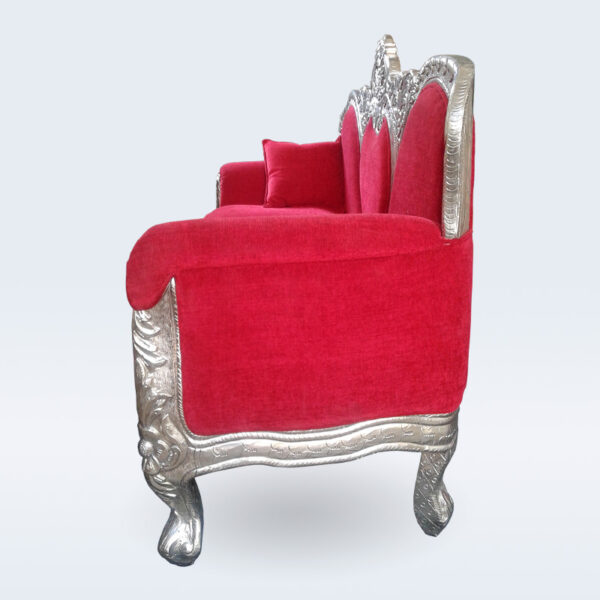 silver carved handcrafted sofa