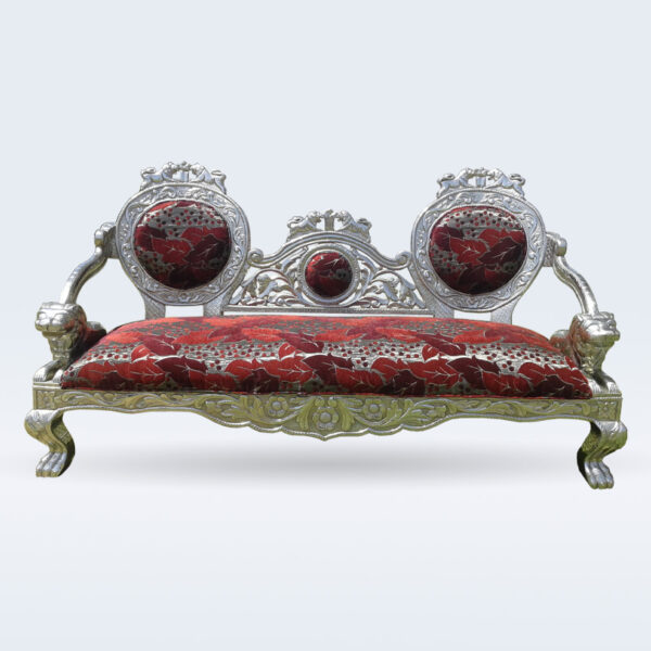 silver carved handmade sofa
