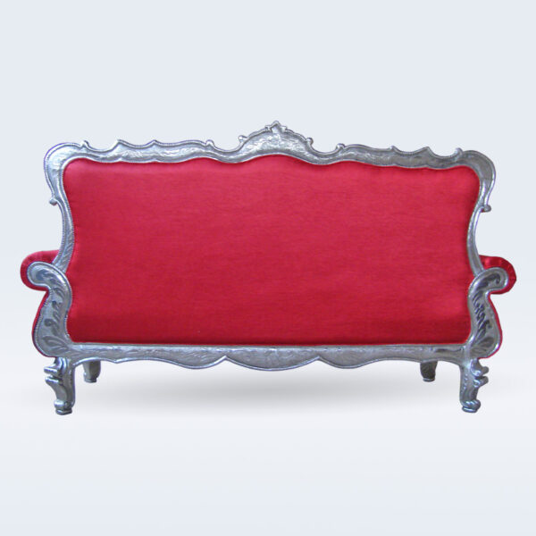 silver carved sofa