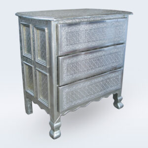 white metal embossed drawer