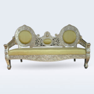 white metal handcrafted sofa