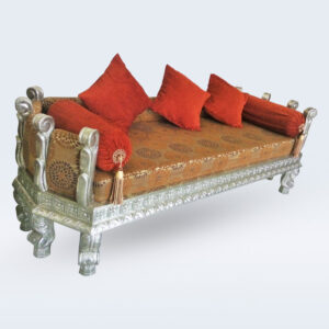 white metal handicraft sofa