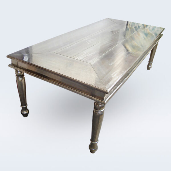 white metal plane dining table 2