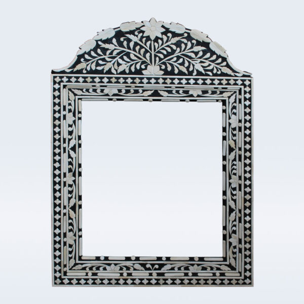 bone inlay black mirror frame
