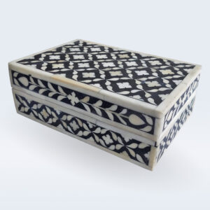 bone inlay floral box
