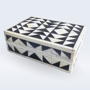 bone inlay geometrical box