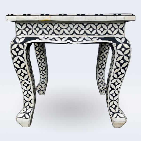 bone inlay geometrical stool