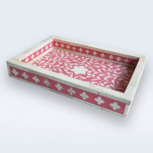 bone inlay handcrafted tray