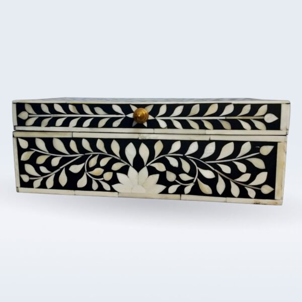 Indian bone inlay jewlery box