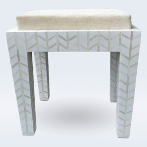 bone inlay seating stool