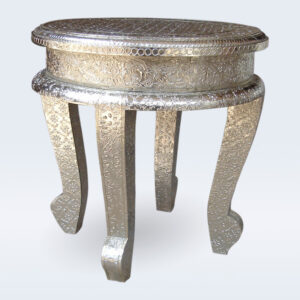 german silver embossed stool