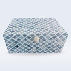 green dyed bone inlay storage box