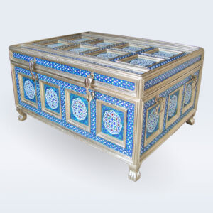 meenakari white metal storage box