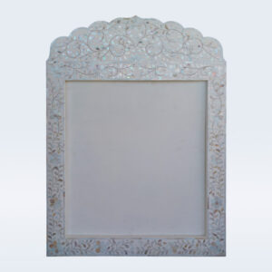 mother of pearl inlay white frame